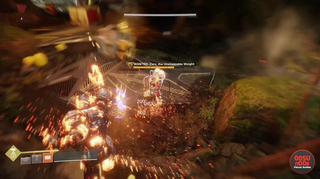 Destiny 2 Pathfinder's Crash Zerz the Unstoppable Weight Wanted Bounty Location