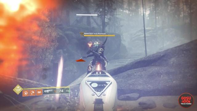 Irxis Partisan Gulch Wanted Bounty Location - Destiny 2