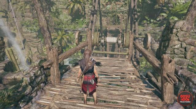 Rough Landing Bridge Crossing Puzzle Solution - Shadow of Tomb Raider