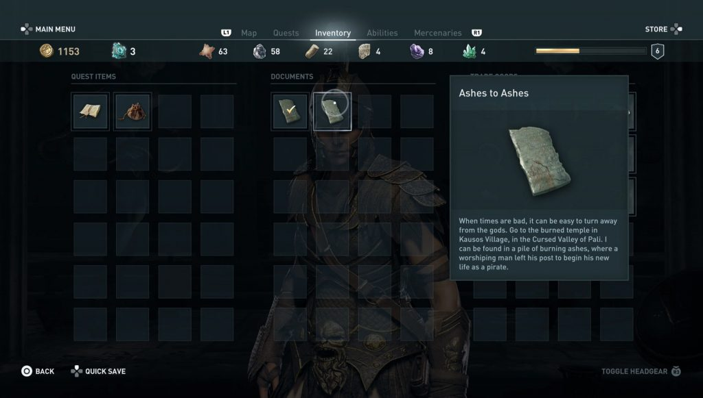 ac odyssey ainigmata ostraka location riddle solution