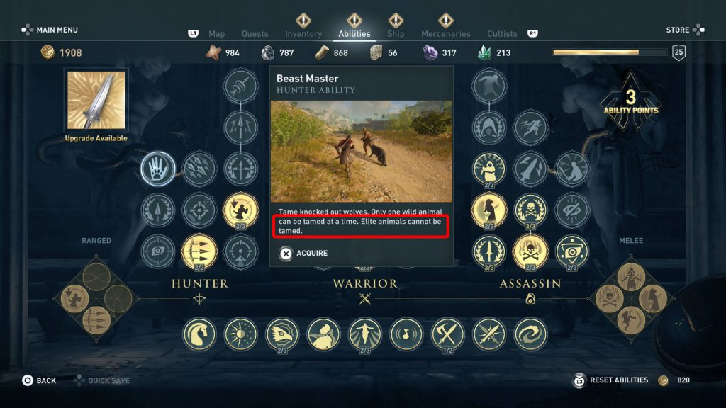 ac odyssey how to tame elite legendary animals