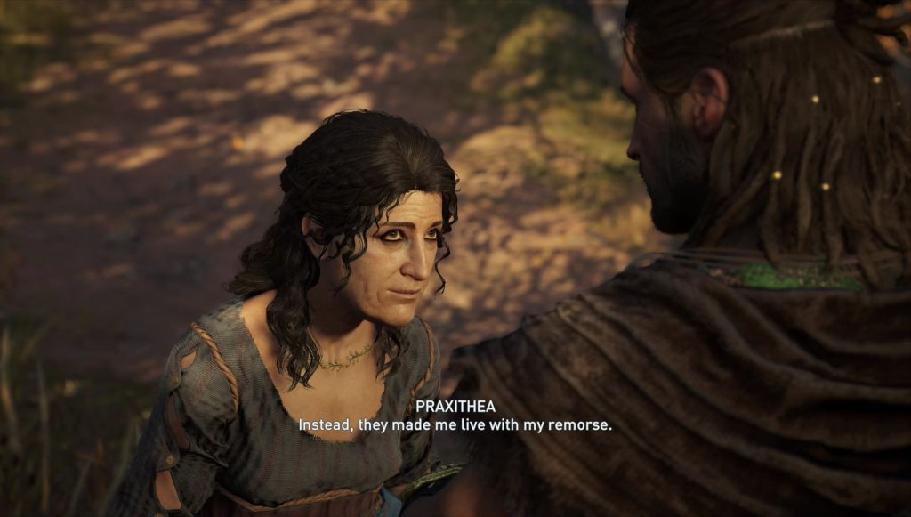 ac odyssey unkindest cut quest kill spare praxithea oracle