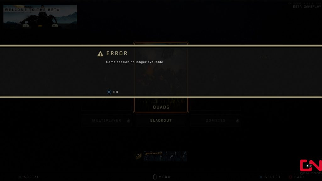 Cod Black Ops 4 Beta Errors Problems Game Session Not Available