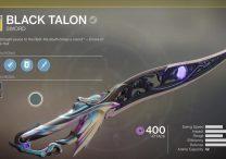 destiny 2 black talon exotic sword