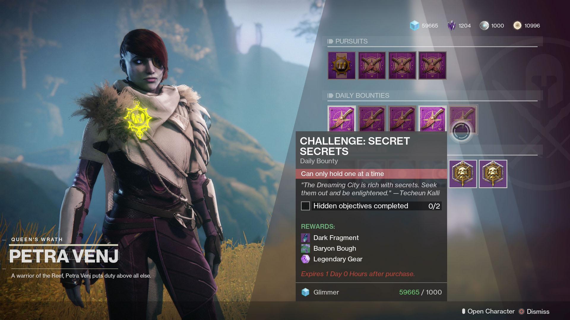 Destiny 2 Challenge Secret Secrets Daily Bounty Cat Amp Chest Locations