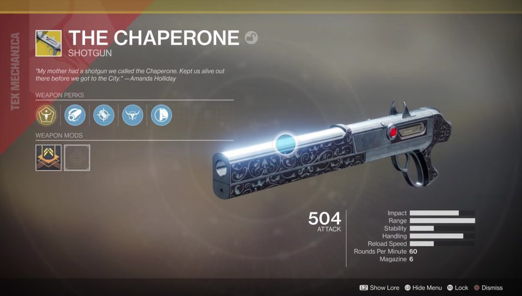 destiny 2 chaperone exotic weapon