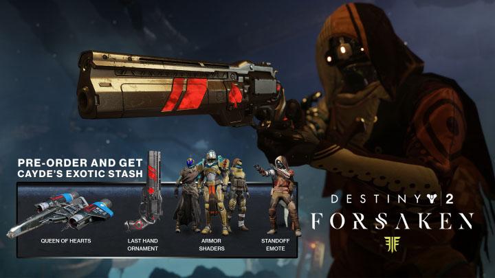 destiny 2 forsaken how to get preorder bonus items