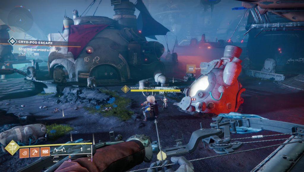 destiny 2 pallas siegebreaker thieves' landing wanted bounty
