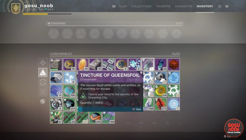 destiny 2 tincture of queensfoil