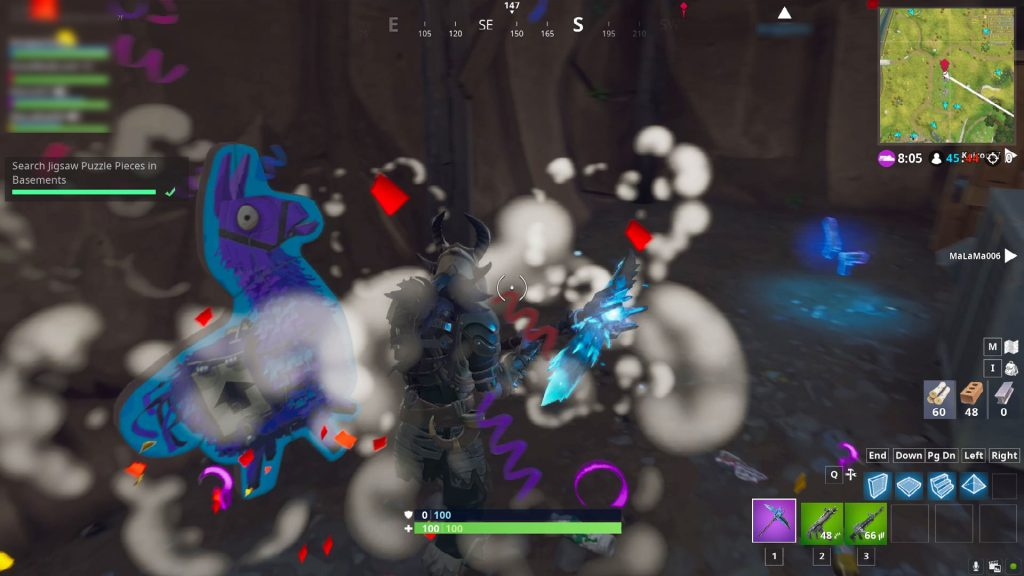 fortnite br jigsaw puzzle pieces basement locations