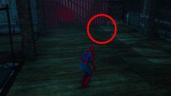 second secret door location wheels within wheels mission spiderman