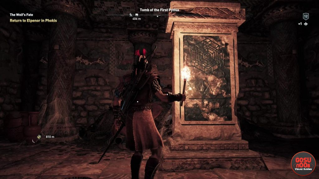 AC Odyssey Tomb of the First Pythia Ancient Stele Location