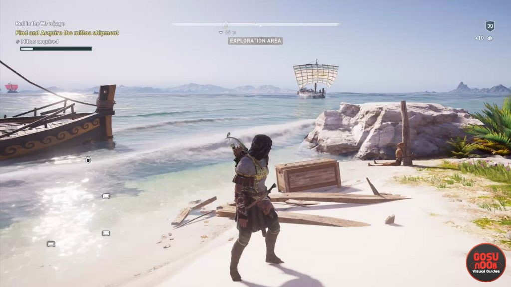 Assassin's Creed Odyssey Red in Wreckage Quest - Where to Find Miltos Chests