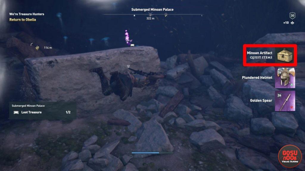 Assassin's Creed Odyssey Submerged Minoan Palace Sunken Artifact Location