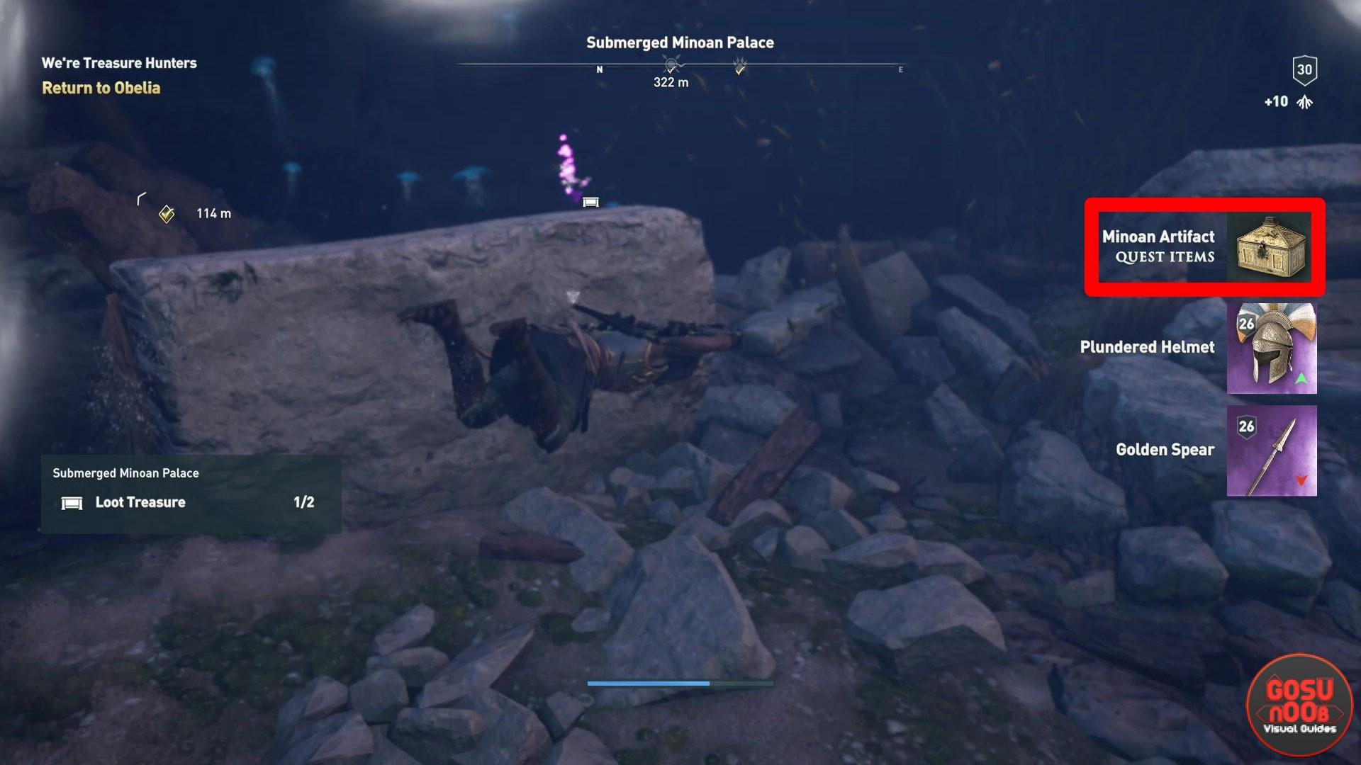 Assassin S Creed Odyssey Submerged Minoan Palace Sunken Artifact