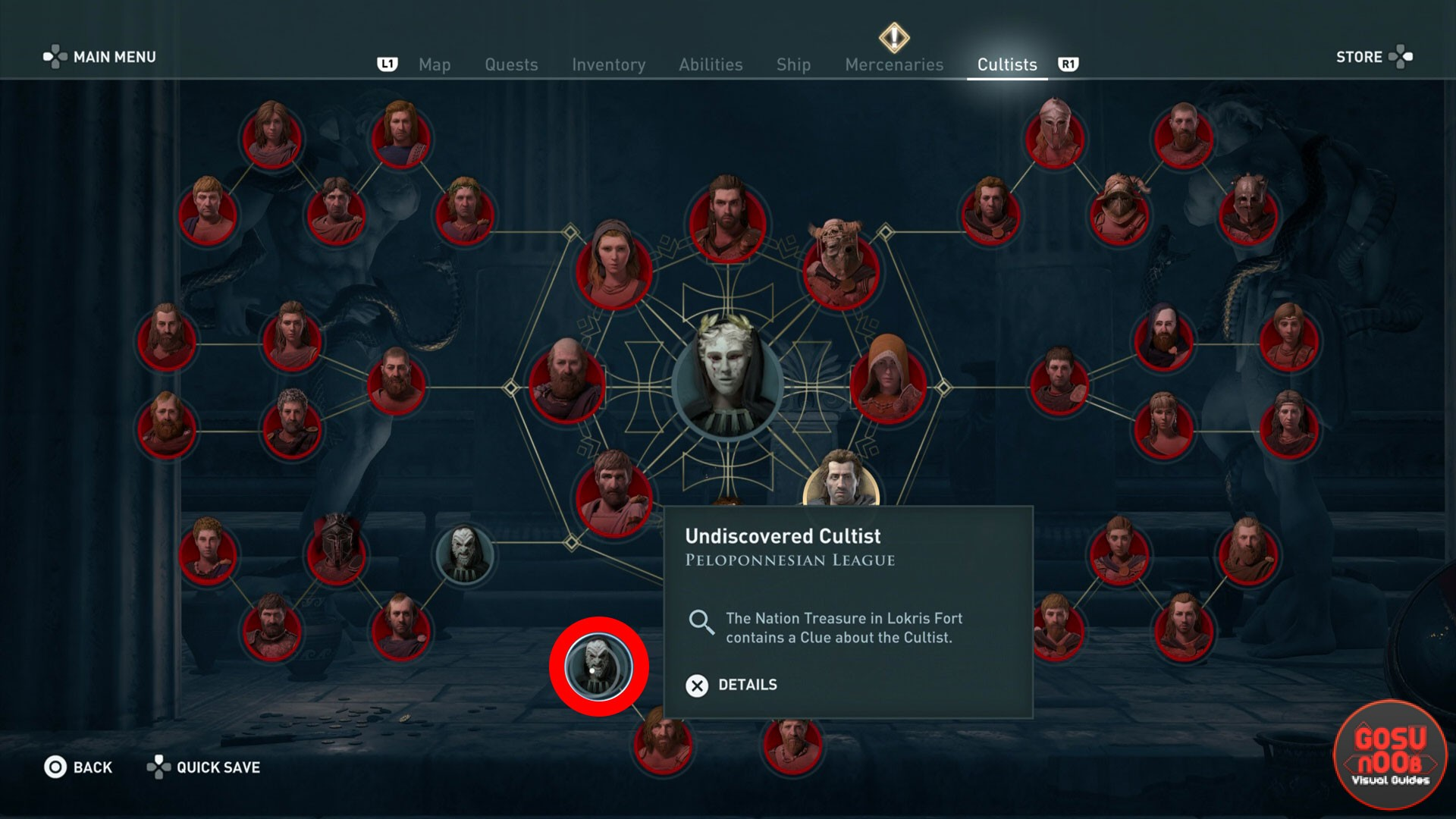 Assassin S Creed Odyssey Where To Find Lokris Fort Cultist Clue Location