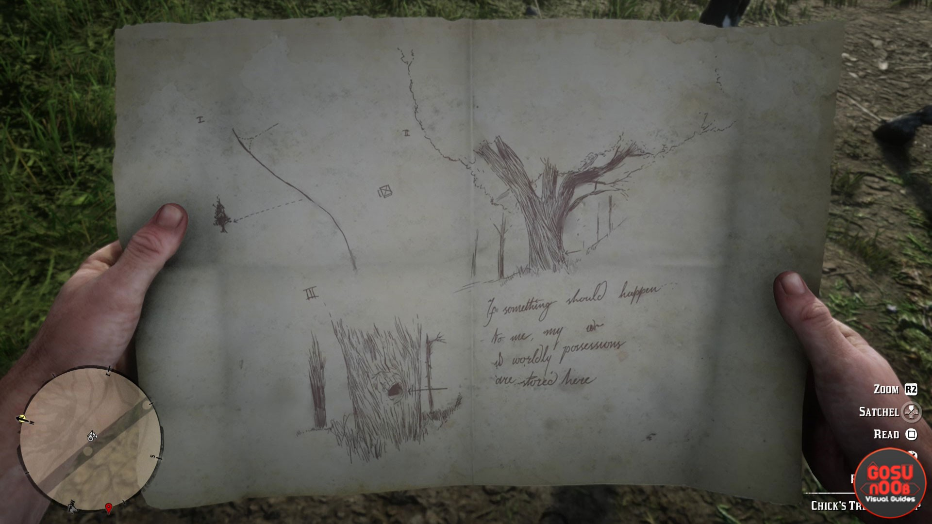 Red Dead Redemption 2 Chick's Treasure Map Solution Location