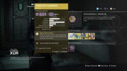 Tractor Cannon destiny 2
