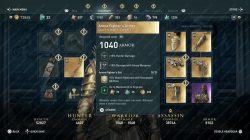 ac odyssey arena fighter's armor