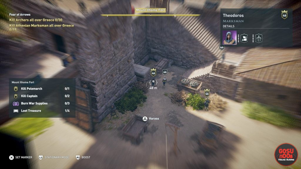 ac odyssey athenian marksman locations fear of arrows quest