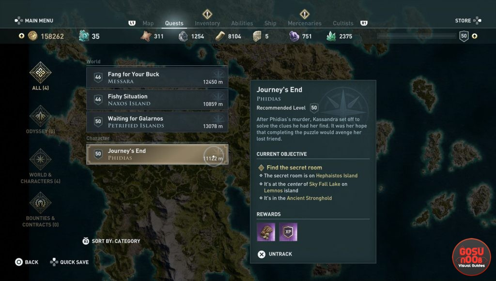 ac odyssey journey's end quest