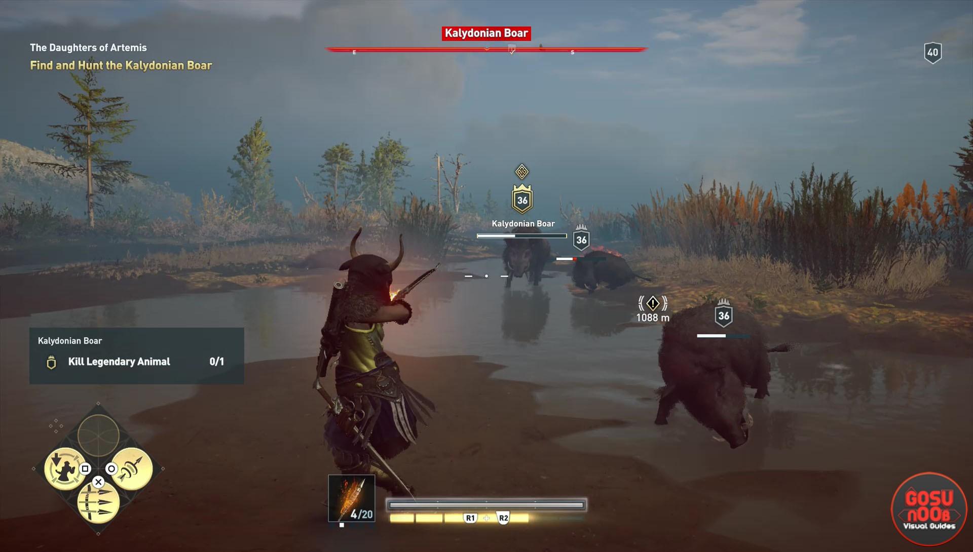Assassin S Creed Odyssey Legendary Boar How To Kill Kalydonian