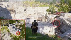 ac odyssey one bad spartan where to find weapon racks