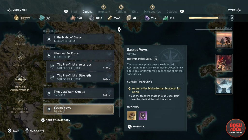 ac odyssey sacred vows quest makedonian bracelet location