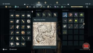 ac odyssey sacred vows treasure map