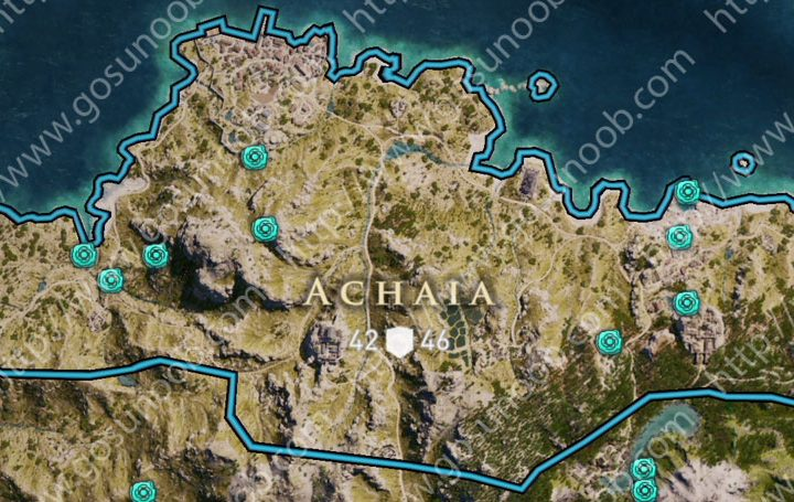 assassins creed odyssey orichalcum ore map locations of - 720×455