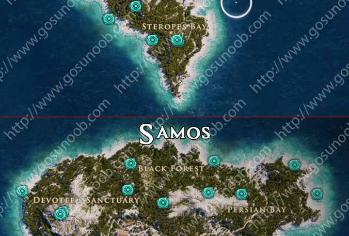 assassins creed odyssey orichalcum ore map locations of - 720×488