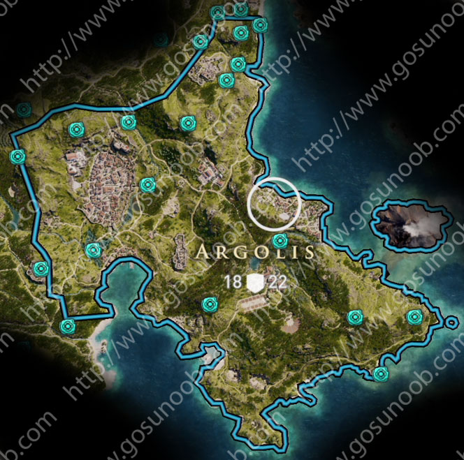 assassins creed odyssey orichalcum ore map locations of - 664×659