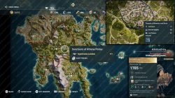 assassins creed odyssey legendary chest map location herakles mace