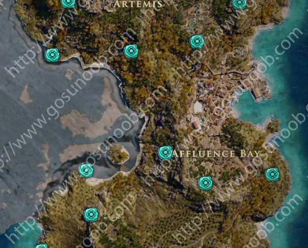 assassins creed odyssey orichalcum ore map locations of - 605×488