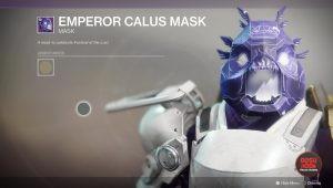 destiny 2 emperor calus mask