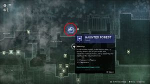 destiny 2 how to start haunted forest