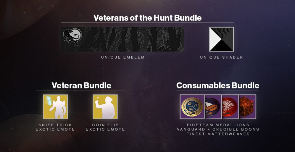 destiny 2 veteran rewards october