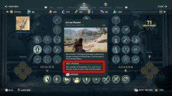 how to unlock fire arrows ac odyssey arrow master skill