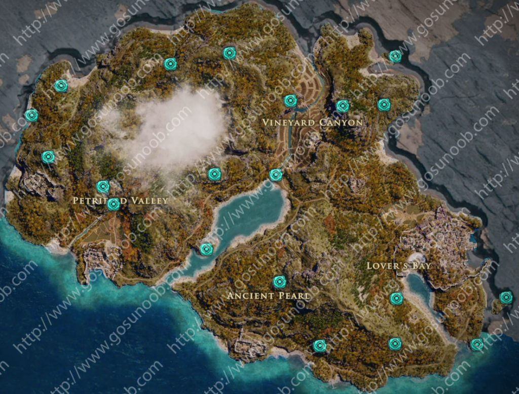 assassins creed odyssey orichalcum ore map locations of - HD 1024×777
