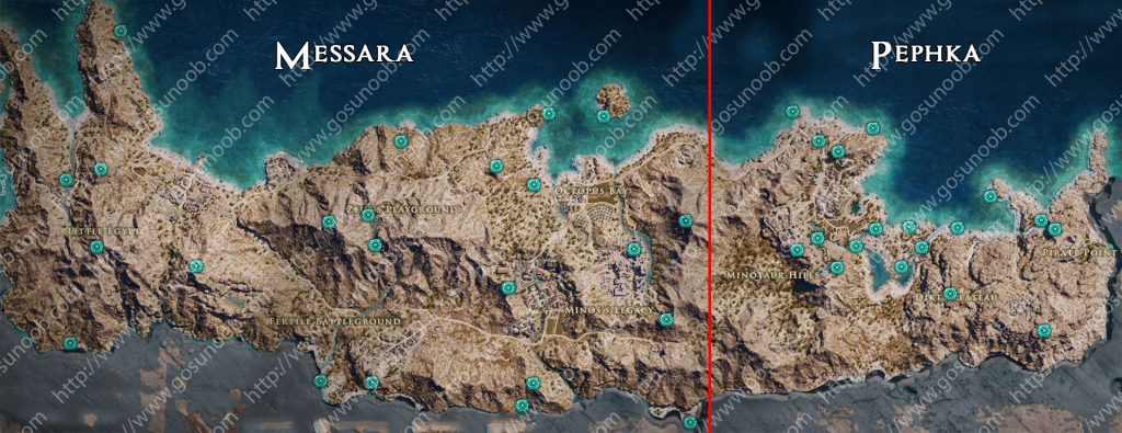 assassins creed odyssey orichalcum ore map locations of - 1024×395