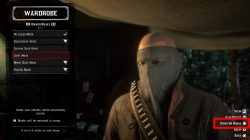 rdr2 how to change mask