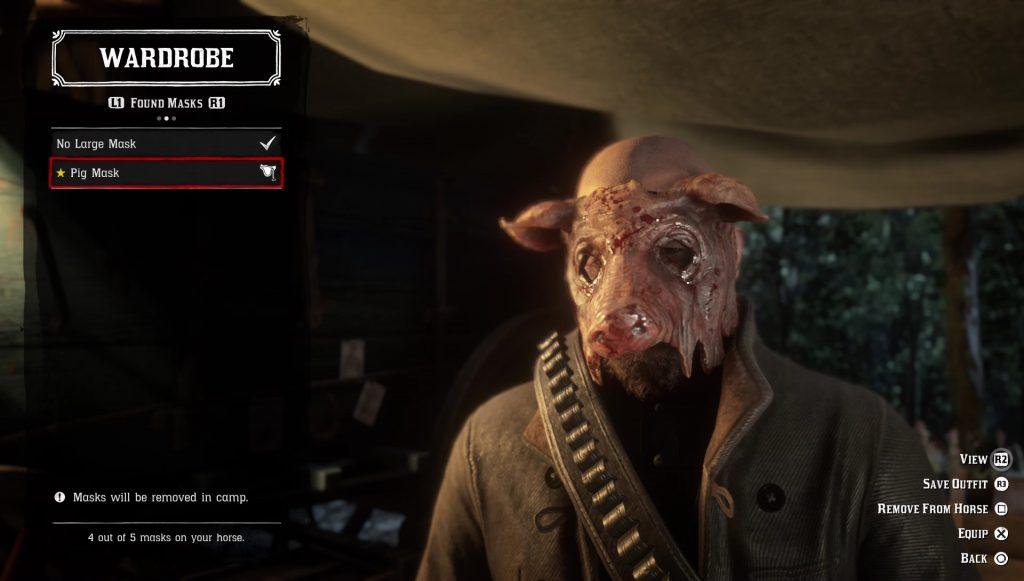red dead redemption 2 buy change mask
