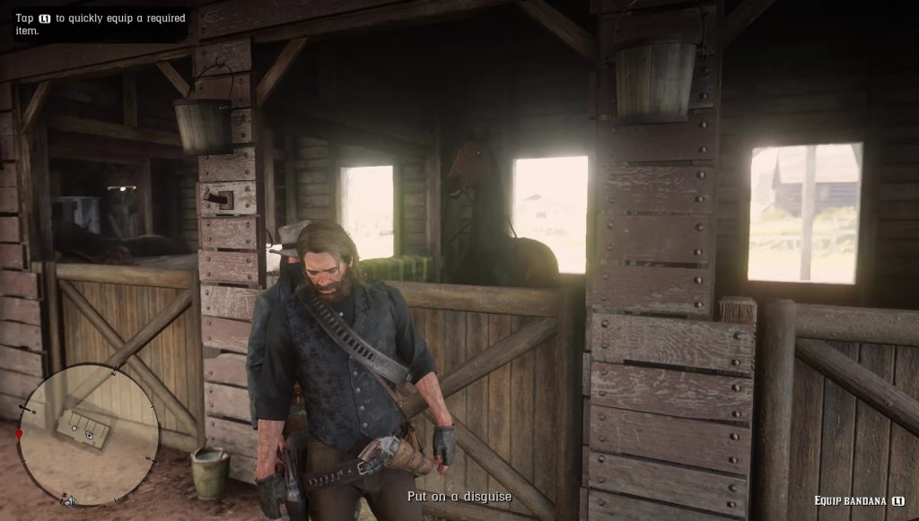 red dead redemption 2 equip bandana bug horse flesh for dinner quest