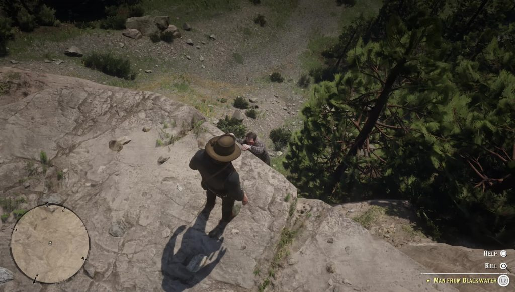 red dead redemption 2 kill help blackwater man