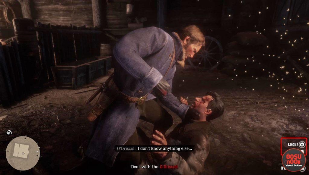 red dead redemption 2 kill or spare o'driscoll in barn