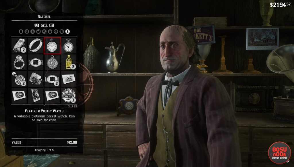 red dead redemption 2 where to sell jewelry gold bars
