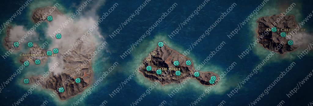 assassins creed odyssey orichalcum ore map locations of - 1024×347