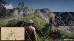 where to find free poison arrow recipe rdr2 location map
