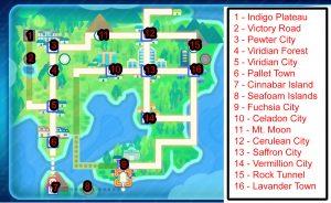 Pokemon Let's Go Pokemon Locations Map
