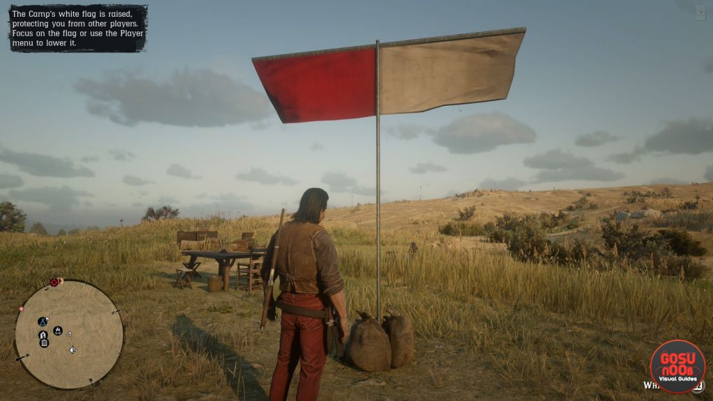 rdr2 online how to protect camp white flag